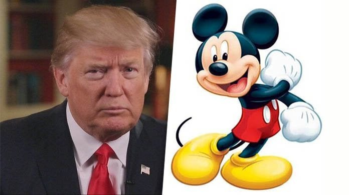 mickey mouse donald trump