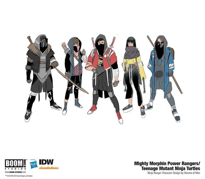Mighty-Morphin-Power-Rangers-Teenage-Mutant-Ninja-Turtles-4-Ranger-Ninja-Designs