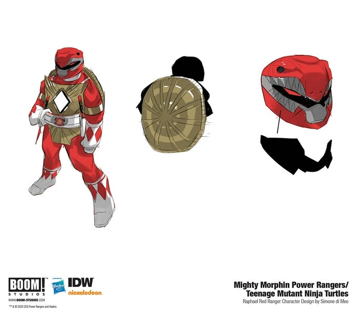 Mighty-Morphin-Power-Rangers-Teenage-Mutant-Ninja-Turtles-4-Red-Ranger-Raphael