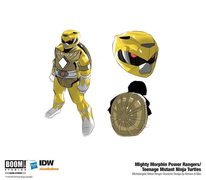 Mighty-Morphin-Power-Rangers-Teenage-Mutant-Ninja-Turtles-4-Yellow-Ranger-Michelangelo