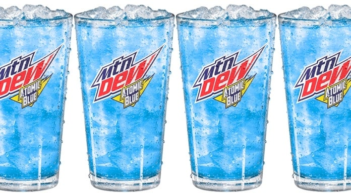 mtn dew atomic blue lemonade