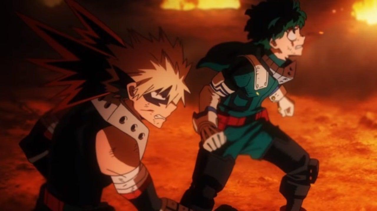 My Hero Academia Izuku And Bakugo Actors Discuss That Heroes Rising Fight Scene