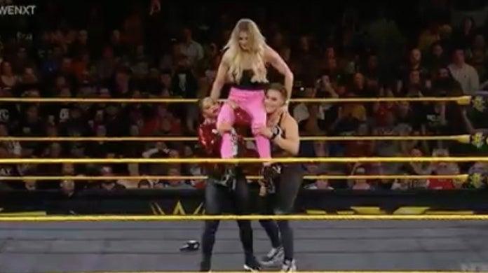 NXT-Bianca-Belair-Charlotte-Flair-Rhea-Ripley-Beatdown