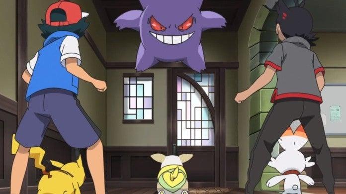 Pokemon Ash Gengar Anime
