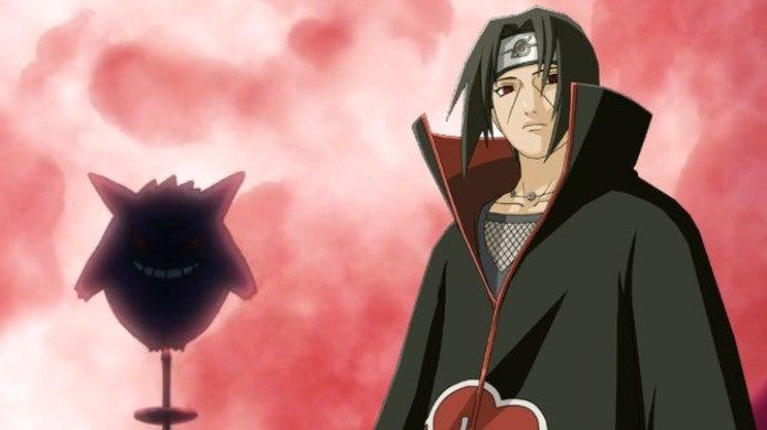Pokemon Gengar Naruto Itachi Uchiha Anime