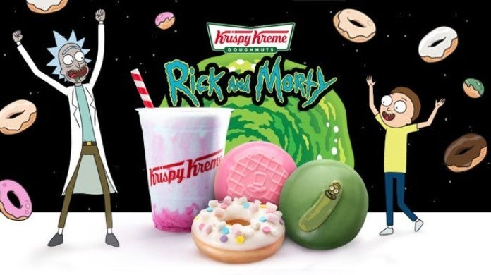 Rick and Morty Krispy Kreme Doughnuts