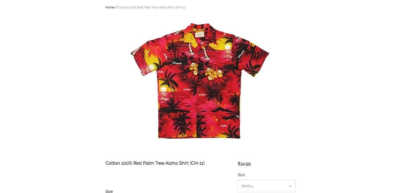 royall hawaiian creations carnage shirt