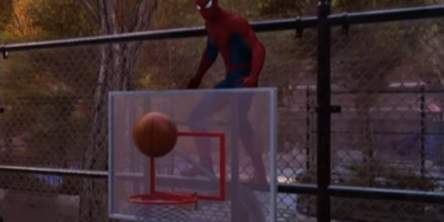 Spider-Man PS4 Fan Plays Basketball with Webs