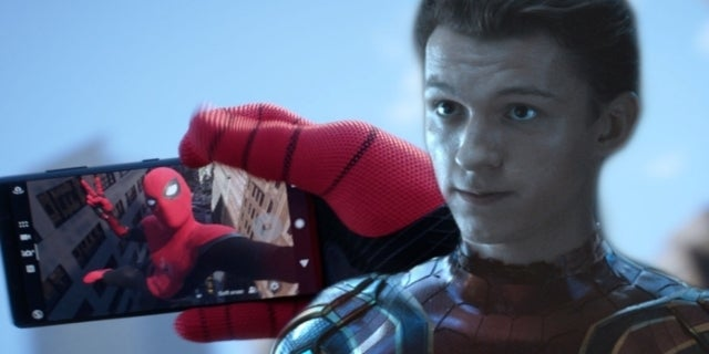 Spider-Man Tom Holland phone