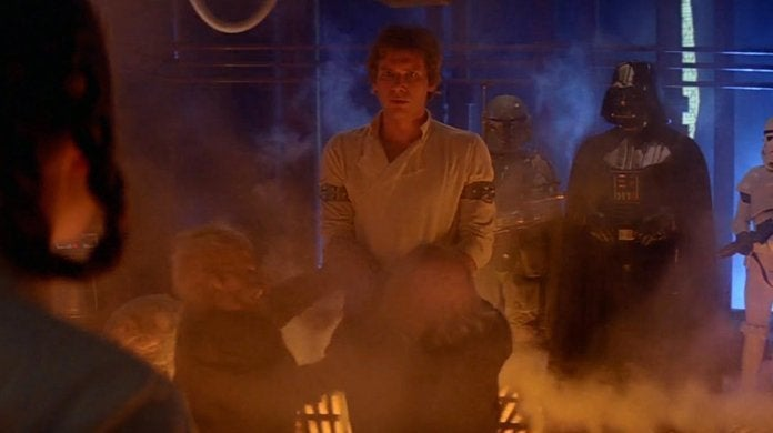 star wars the empire strikes back han solo carbonite scene