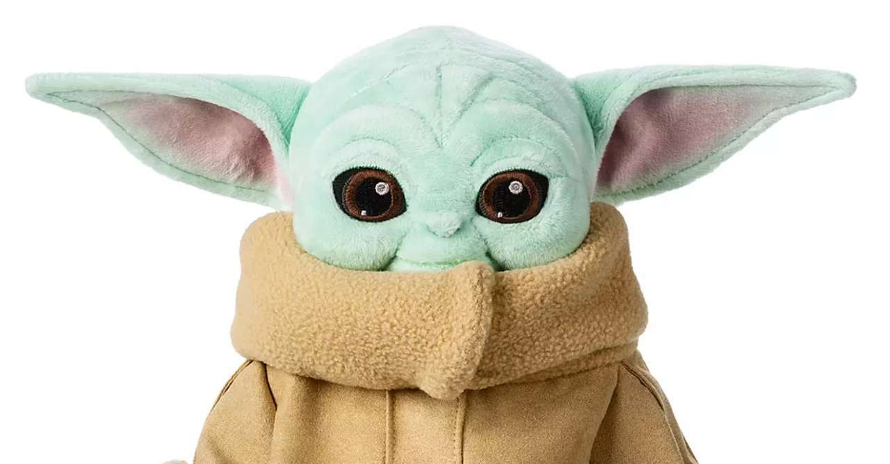 star wars the mandalorian baby yoda plush doll