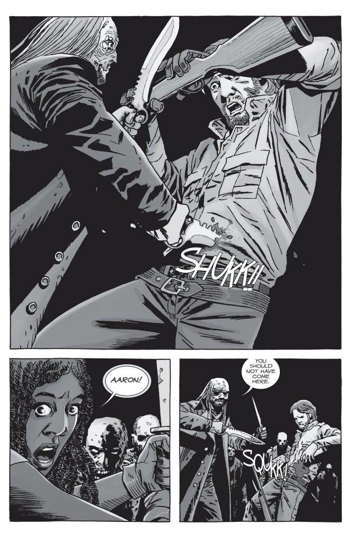 The Walking Dead Beta stabs Aaron