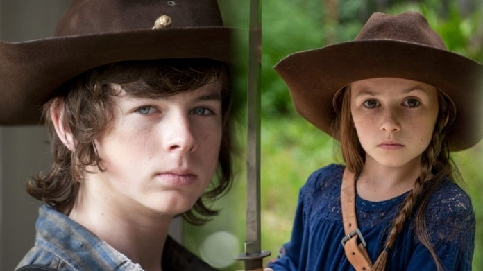 The Walking Dead Chandler Riggs Cailey Fleming Carl Judith Grimes comicbookcom