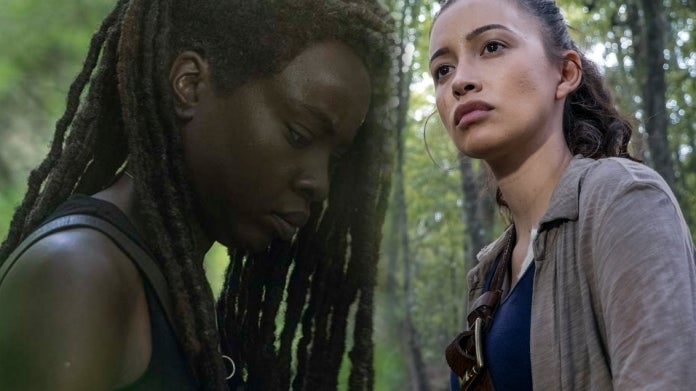 The Walking Dead Michonne Rosita Danai Gurira Christian Serratos comicbookcom
