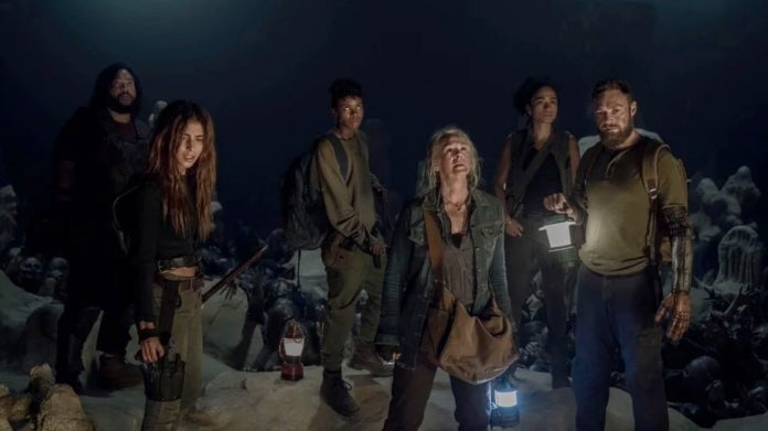 The Walking Dead Season 10B cave survivors