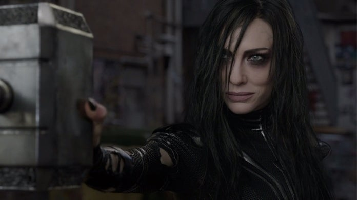 thor ragnarok hela alley way scene