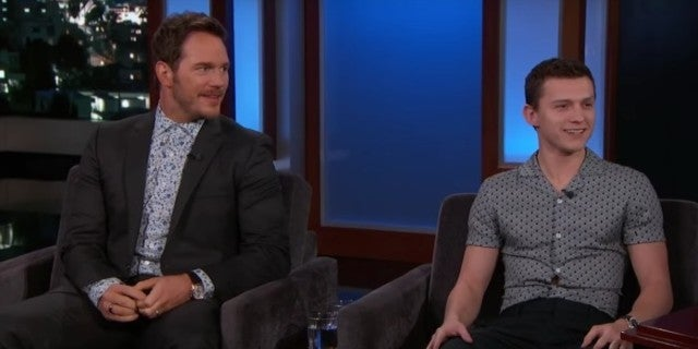 Watch Onward Stars Tom Holland and Chris Pratt Try to Troll Each Other on Jimmy Kimmel Live