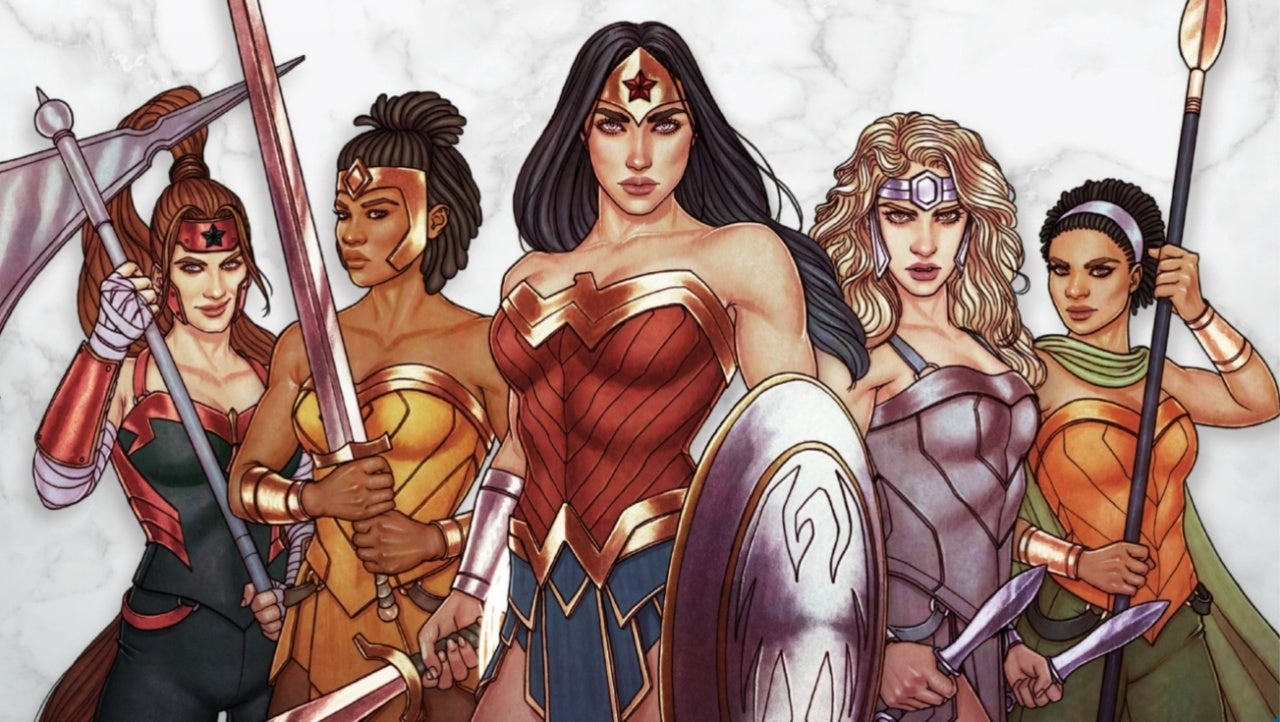 wonder woman and the amazons arrive to tabletop ! view