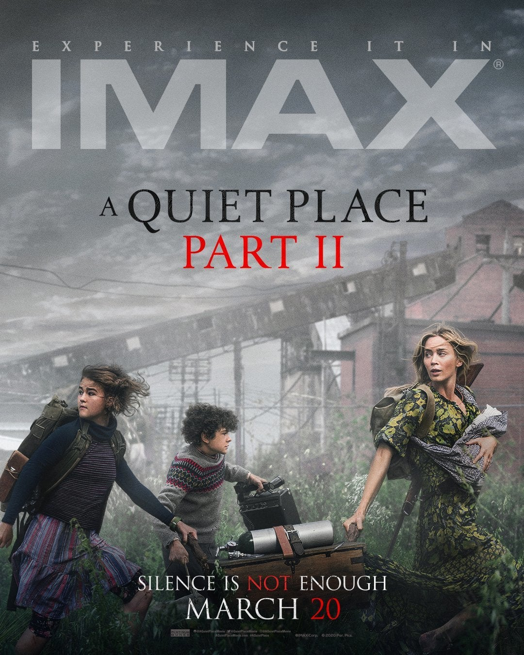 a quiet place part ii imax poster emily blunt