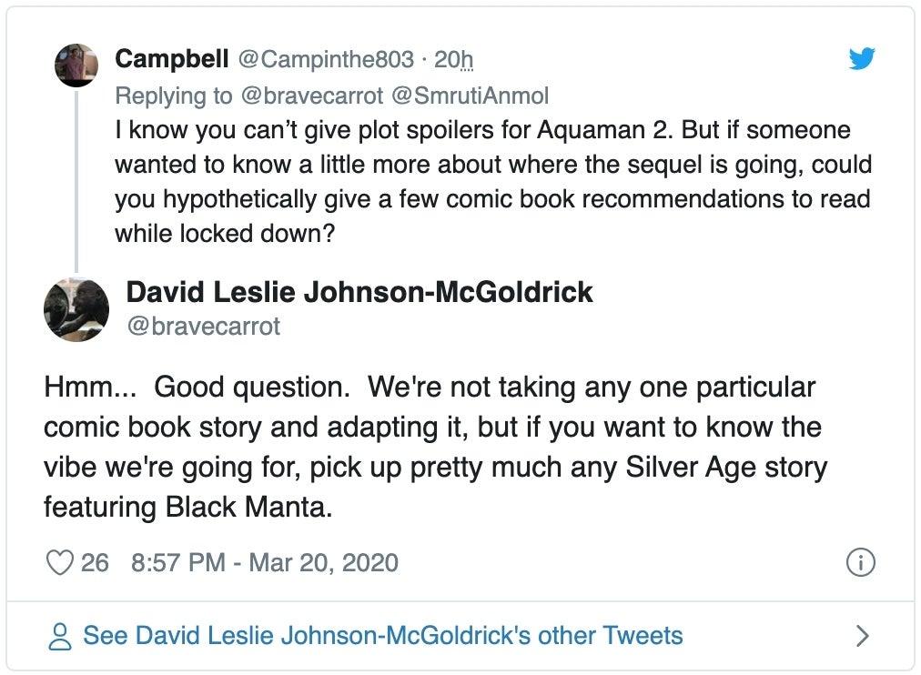 aquaman 2 plot tweet screenshot