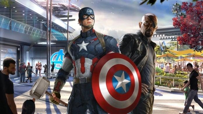 Avengers Campus Captain America Mjolnir Endgame Nick Fury COMICBOOKCOM