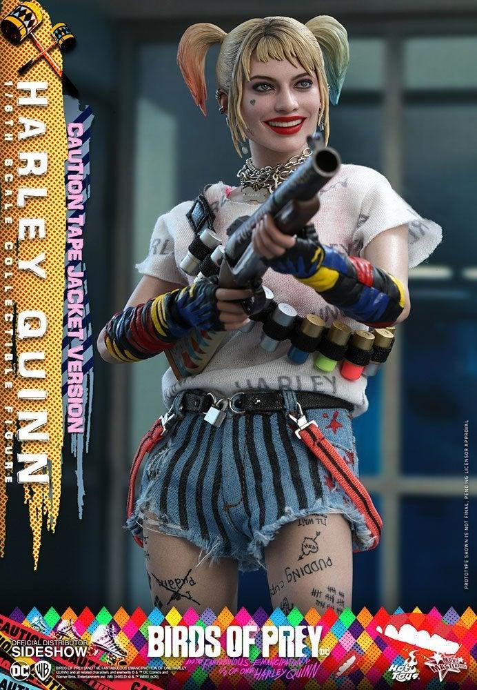 Birds-of-Prey-Harley-Quinn-Caution-Tape-Jacket-Hot-Toys-Figure-5
