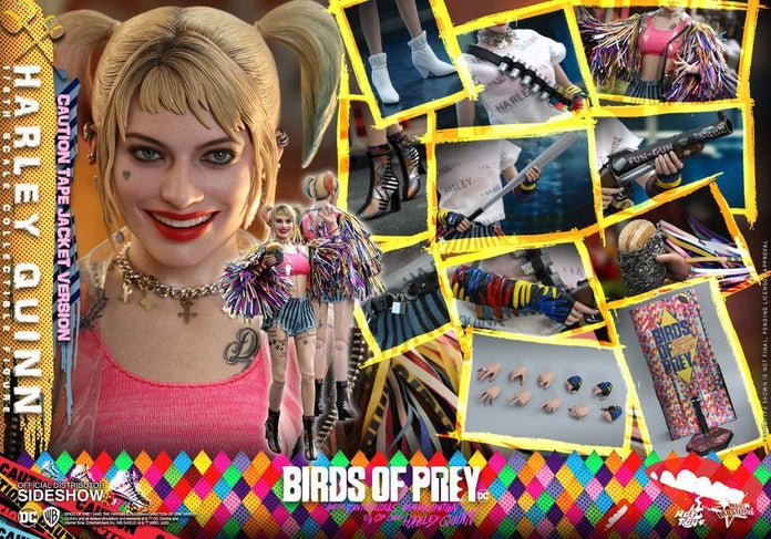 Birds-of-Prey-Harley-Quinn-Caution-Tape-Jacket-Hot-Toys-Figure-9