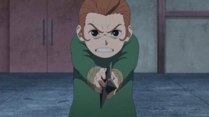 Boruto Anime Mujina Bandits Arc Tento Suicide Attempt Scene