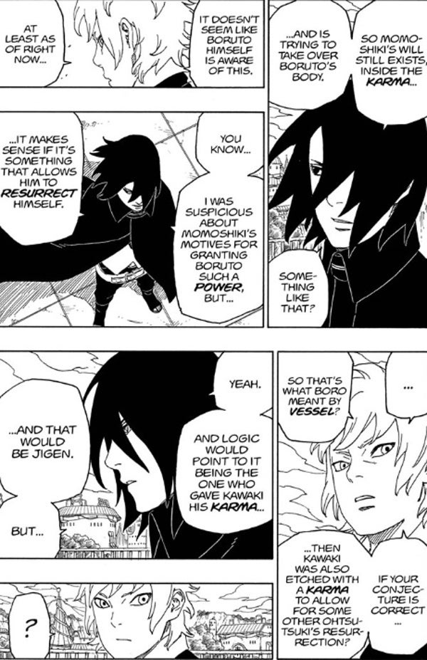 Boruto Manga Chapter 44 Karma Seal Powers Otsutsuki Resurrection Explained