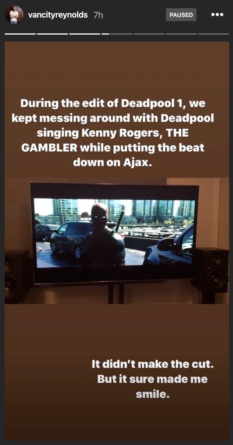deadpool kenny rogers scene
