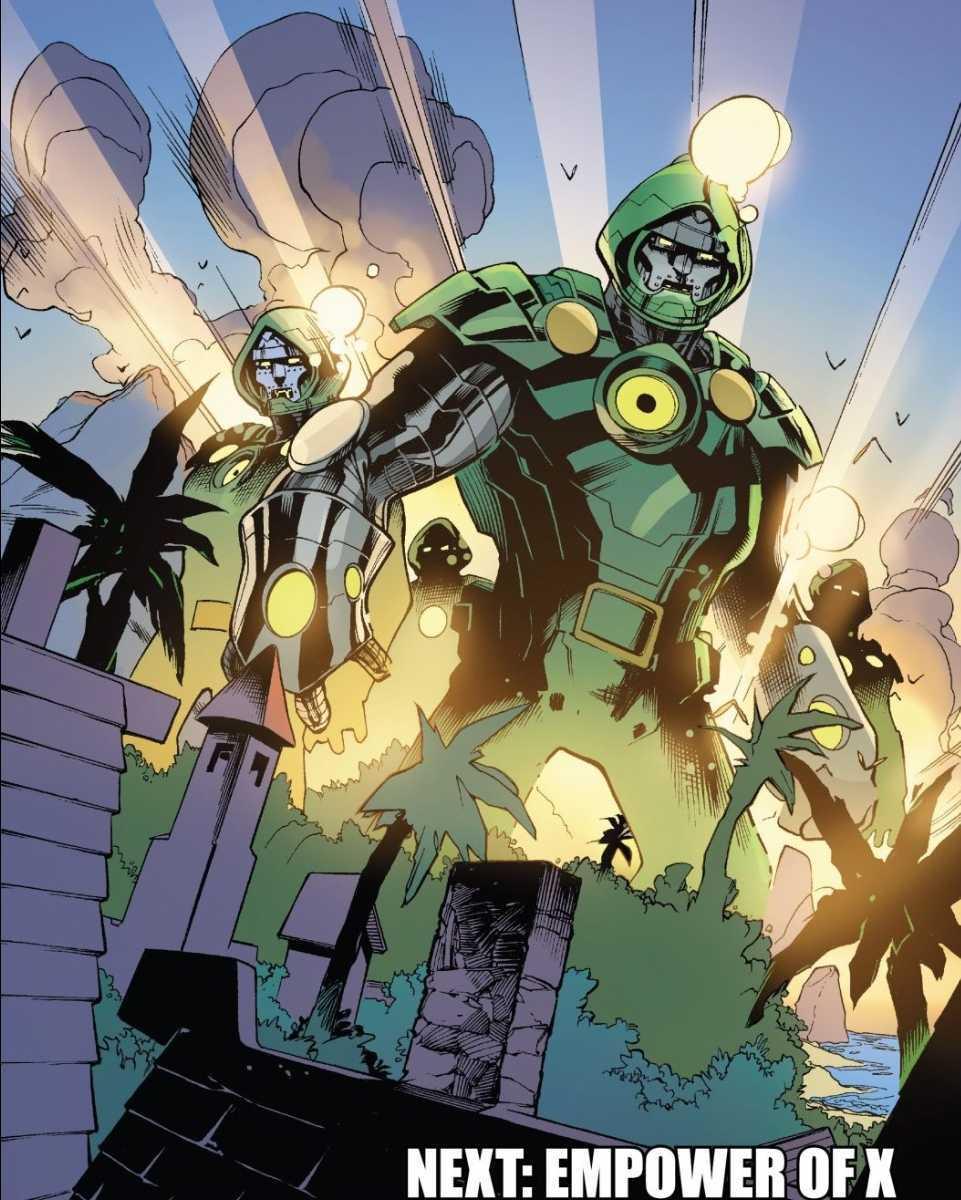 Doctor Doom Sentinels X-Men Fantastic Four Marvel