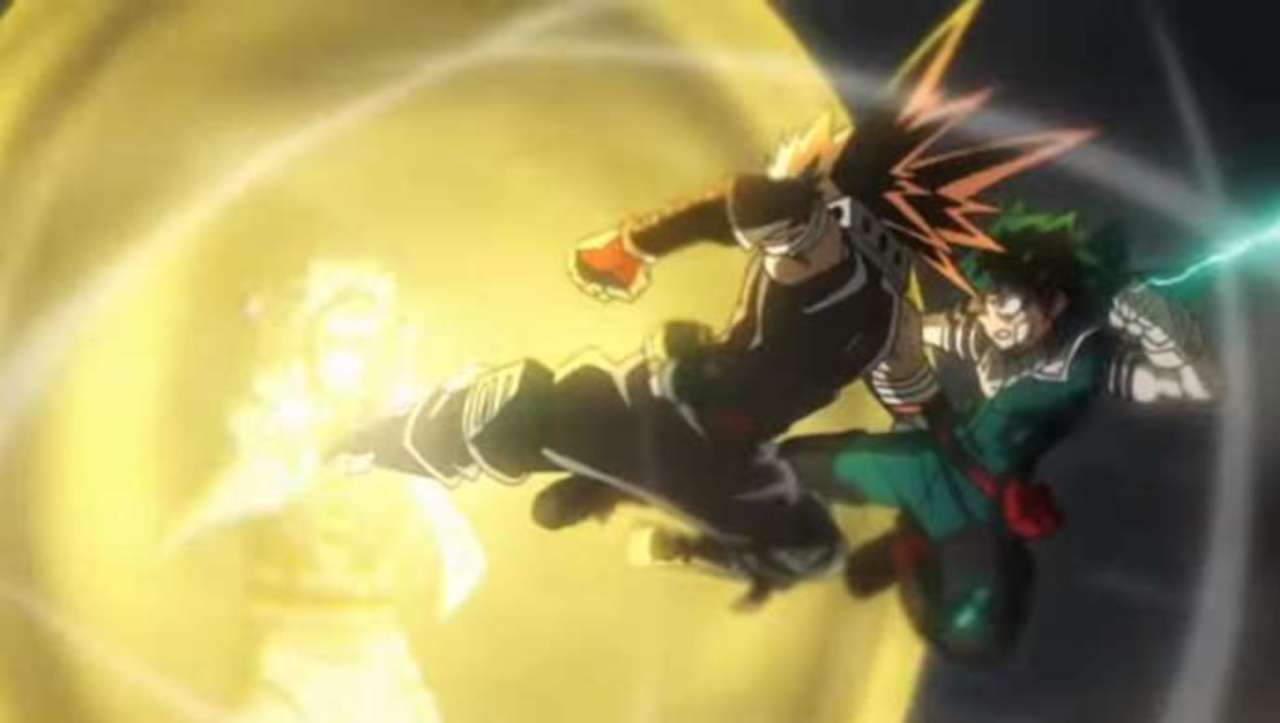 My Hero Academia Artwork Brings Heroes Rising S Epic Climax To Life