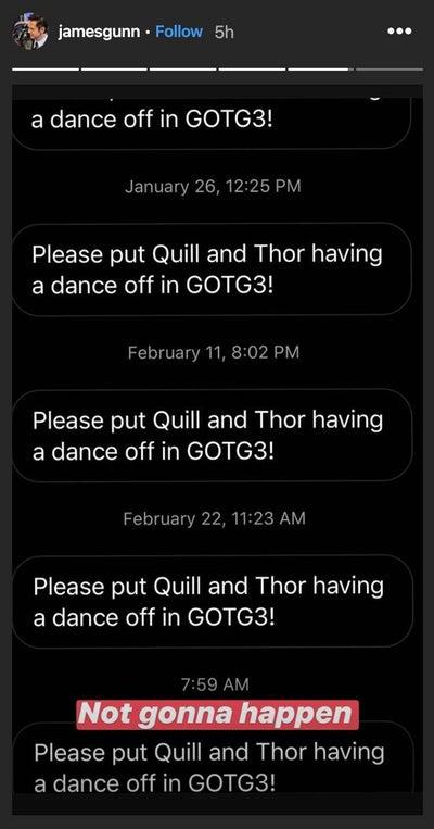james gunn guardians of the galaxy 3 instagram thor