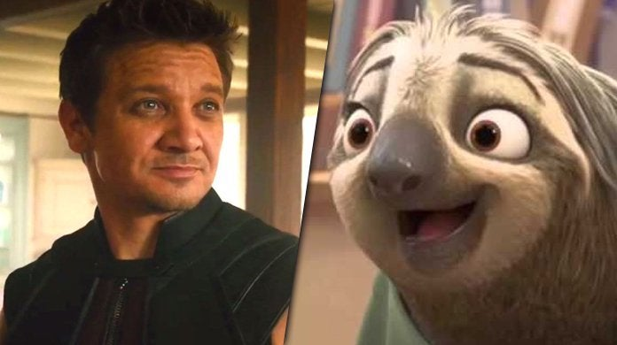 jeremy renner hawkeye sloth outfit