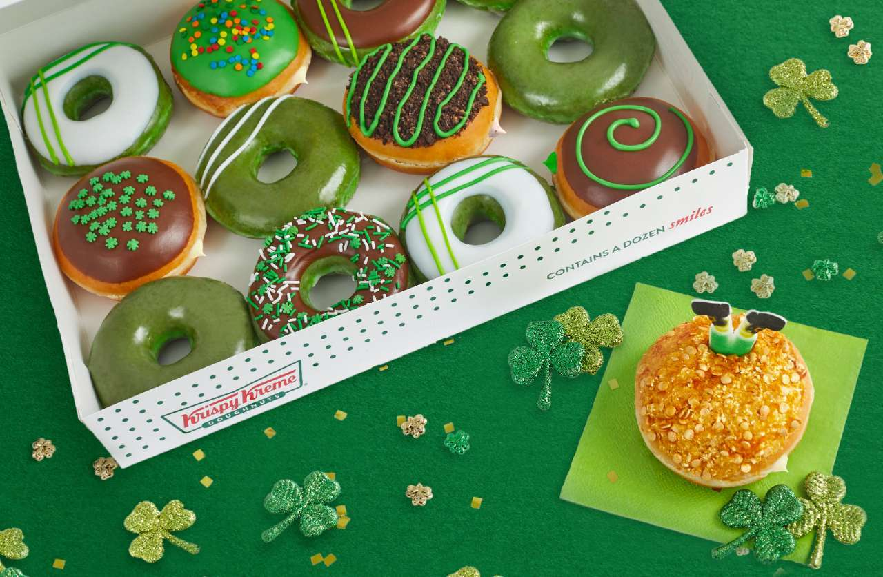 krispy kreme leprechaun trap doughnuts