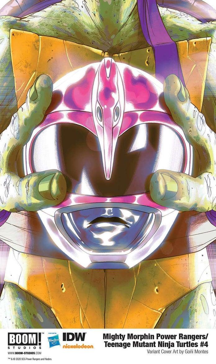 Mighty-Morphin-Power-Rangers-Teenage-Mutant-Ninja-Turtles-4-Cover-Helmet-Donatello