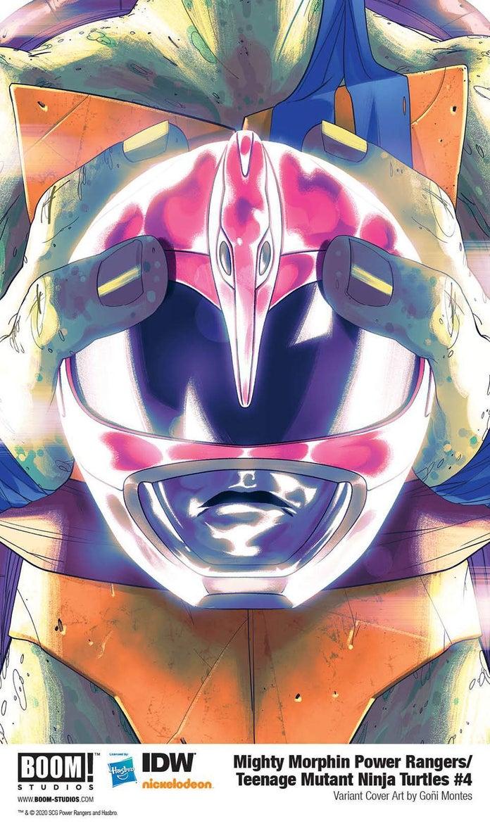 Mighty-Morphin-Power-Rangers-Teenage-Mutant-Ninja-Turtles-4-Cover-Helmet-Leonardo