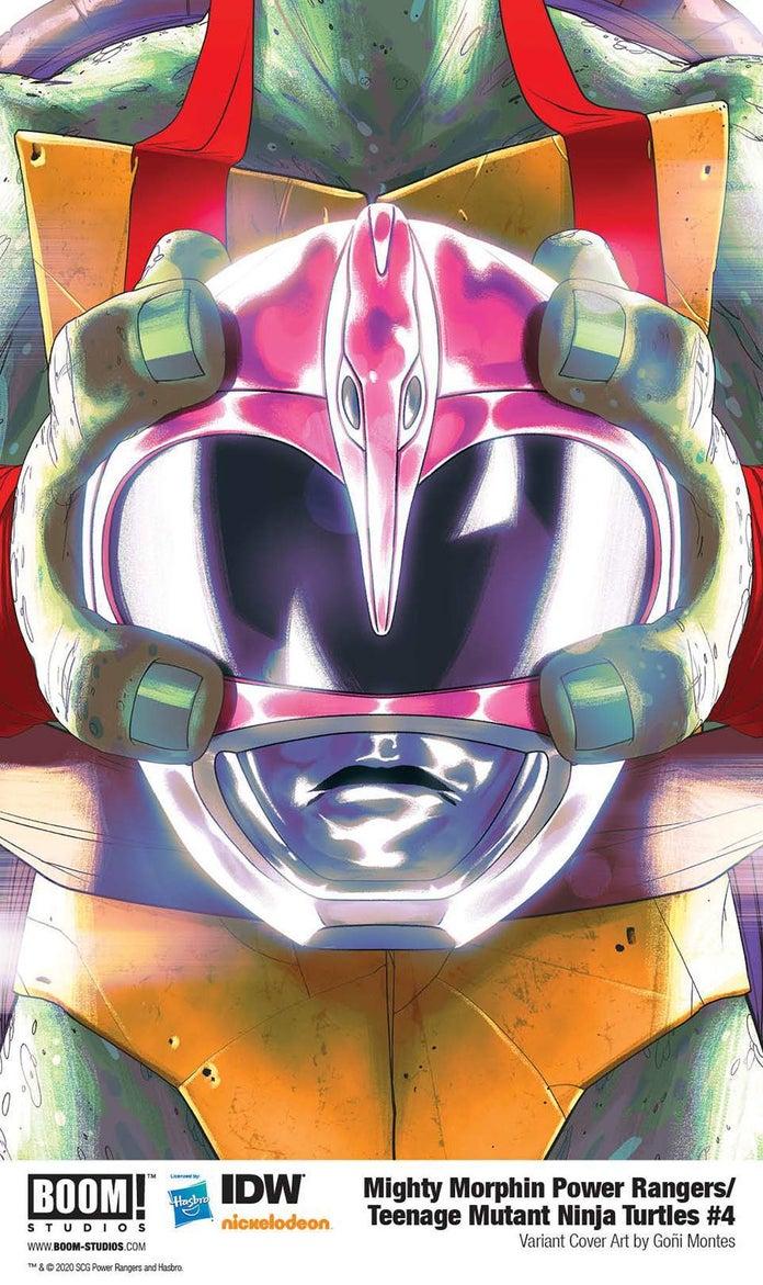 Mighty-Morphin-Power-Rangers-Teenage-Mutant-Ninja-Turtles-4-Cover-Helmet-Raphael