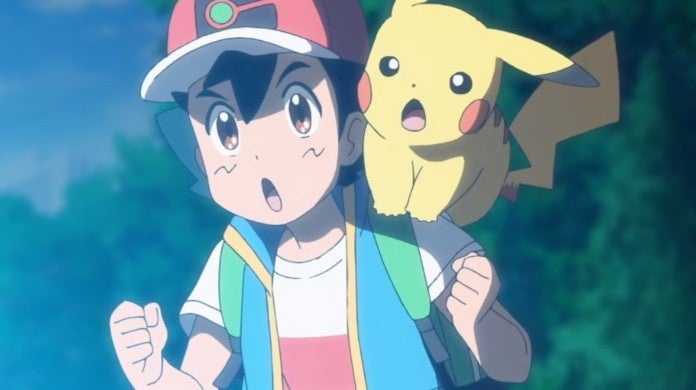 Pokemon Anime Ash Pikachu Surprise