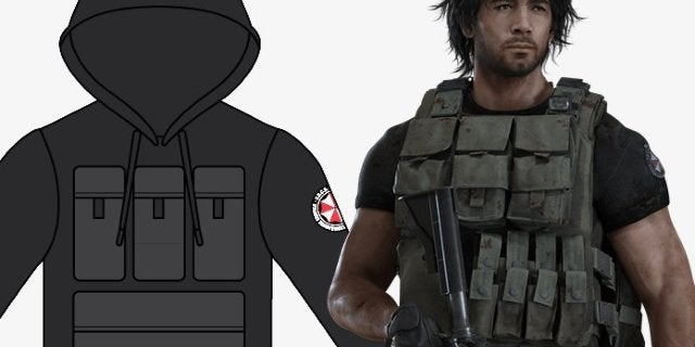 Resident Evil 3 Remake Carlos Oliveira Hoodie Features 6 Canvas