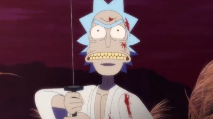 Rick and Morty Samurai Anime