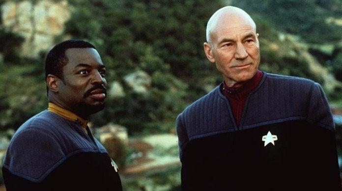 Star Trek The Next Generation Patrick Stewart Levar Burton Reunion