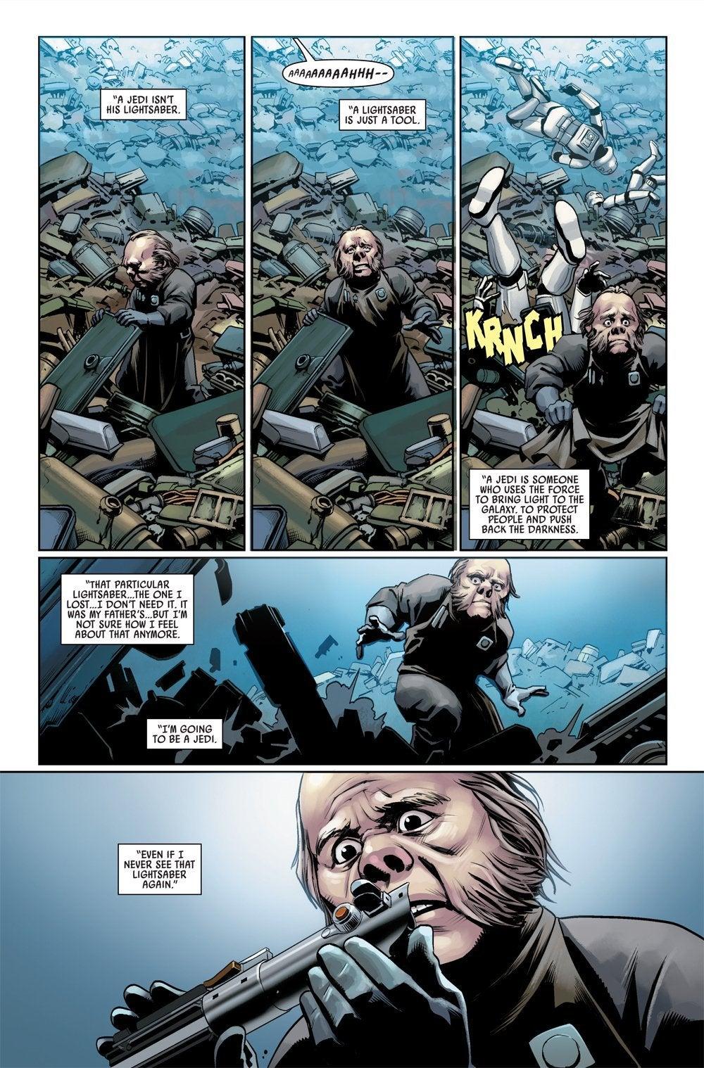 star wars comic luke lightsaber issue 4