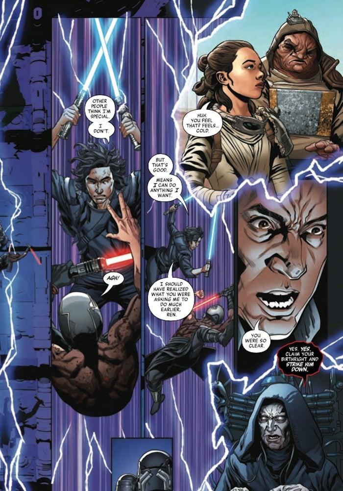 Star Wars Rise Kylo Ren Ben Solo Kills Ren Palpatine Connection