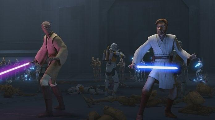 star wars the clone wars mace windu obi-wan kenobi