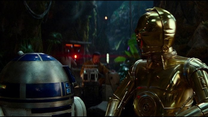 Star Wars the Rise of Skywalker R2D2 C2PO Reboot Scene