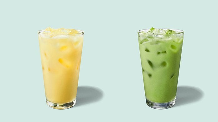 starbucks non dairy spring iced beverages
