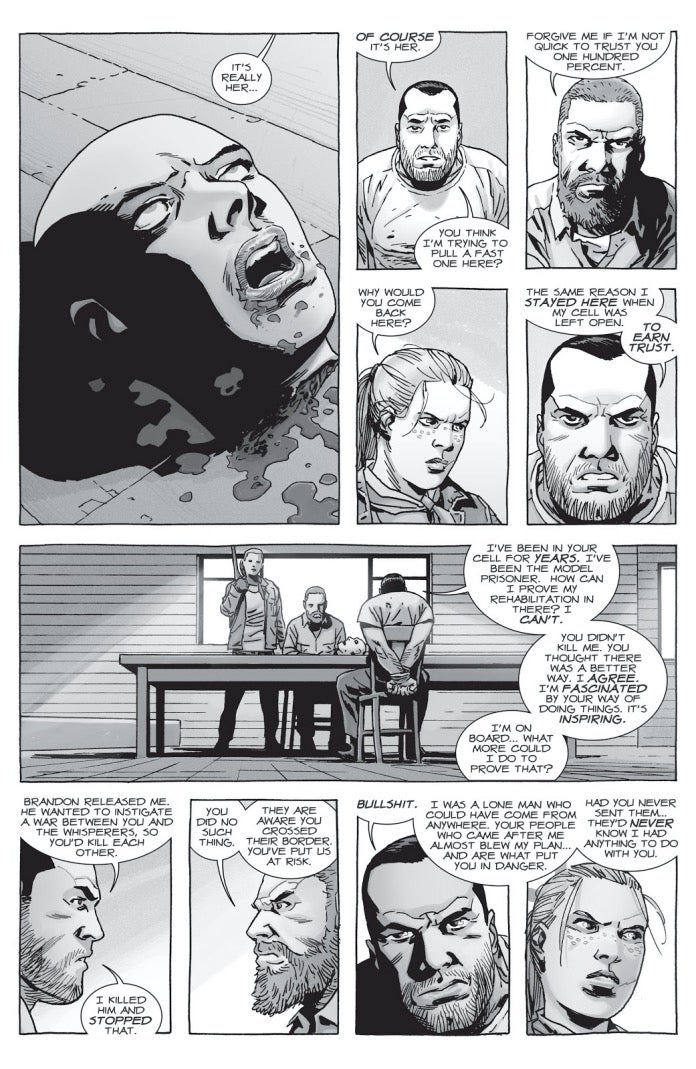 The Walking Dead 157 Negan Alpha head