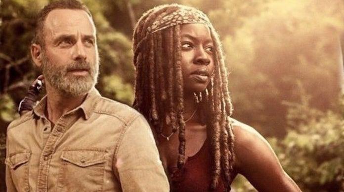 The Walking Dead Andrew Lincoln Serenade Danai Gurira Michonne Exit
