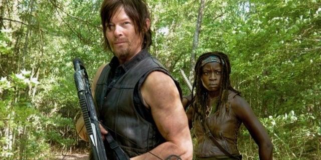 The Walking Dead Daryl Michonne Norman Reedus Danai Gurira